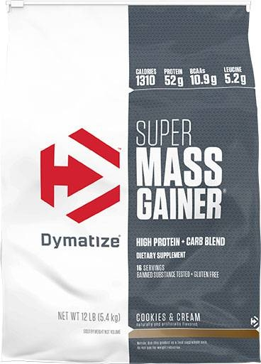 Super Mass Gainer By Dymatize Nutrition, Cookies and Cream 12lb