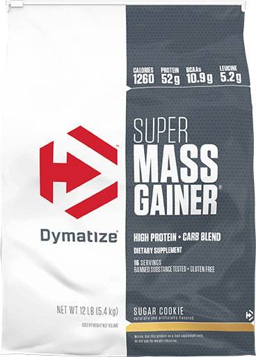 Super Mass Gainer By Dymatize Nutrition, Sugar Cookie, 12lb