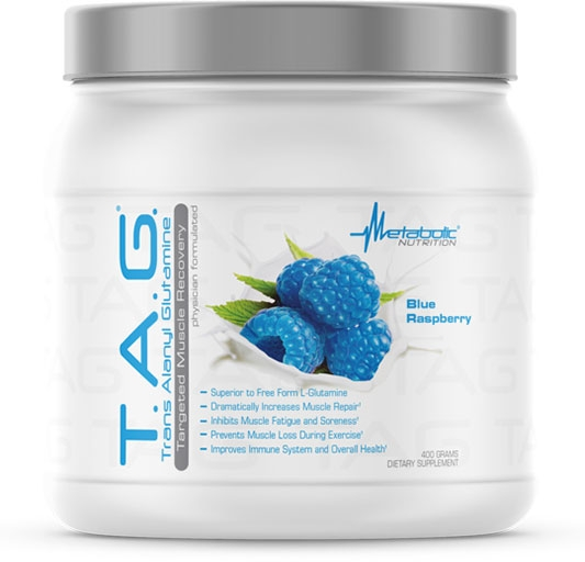TAG Glutamine - Blue Raspberry - 400 Grams