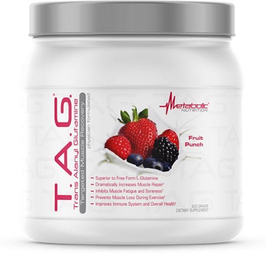 TAG Glutamine - Fruit Punch - 400 Grams