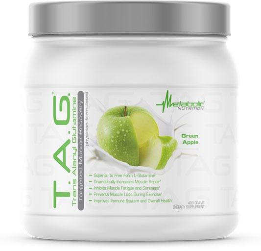 TAG Glutamine - Green Apple - 400 Grams