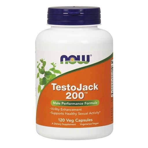 NOW TestoJack 200 - Extra Strength - 120 Veg Caps