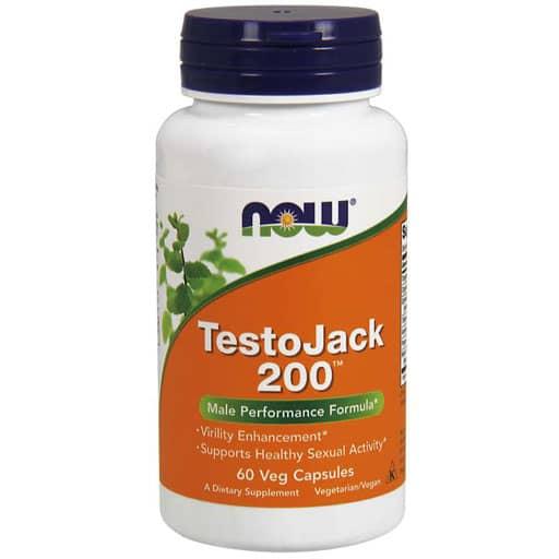 NOW TestoJack 200 - Extra Strength - 60 Veg Caps