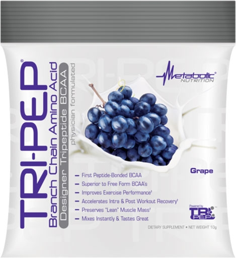 TriPep By Metabolic Nutrition, Grape, Sample Packet