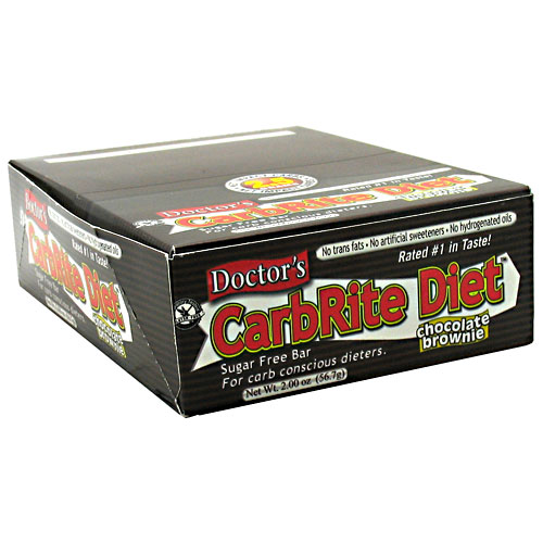Doctor's CarbRite Diet Bar By Universal Nutrition, Chocolate Brownie 12 Bars