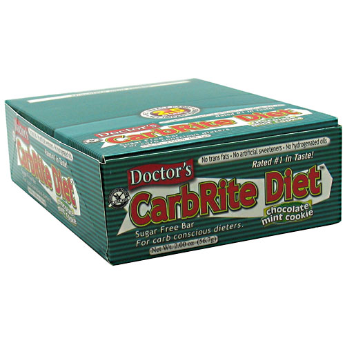 Doctor's CarbRite Diet Bar By Universal Nutrition, Chocolate Mint Cookie 12 Bars