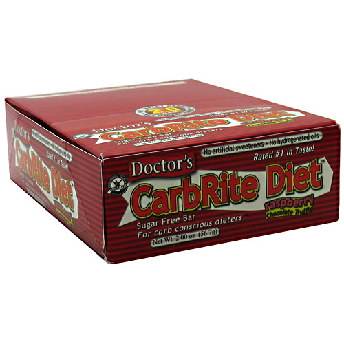 Doctor's CarbRite Diet Bar By Universal Nutrition, Raspberry Chocolate Truffle 12 Bars