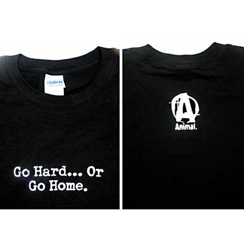 Universal Nutrition Go Hard Or Go Home Black T-Shirt X-Large