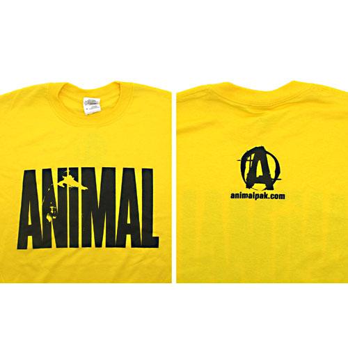 Universal Nutrition Yellow Animal T-Shirt Large