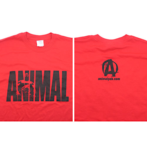 Universal Nutrition Red Animal T-Shirt Large