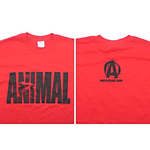 Universal Nutrition Red Animal T-Shirt X-Large