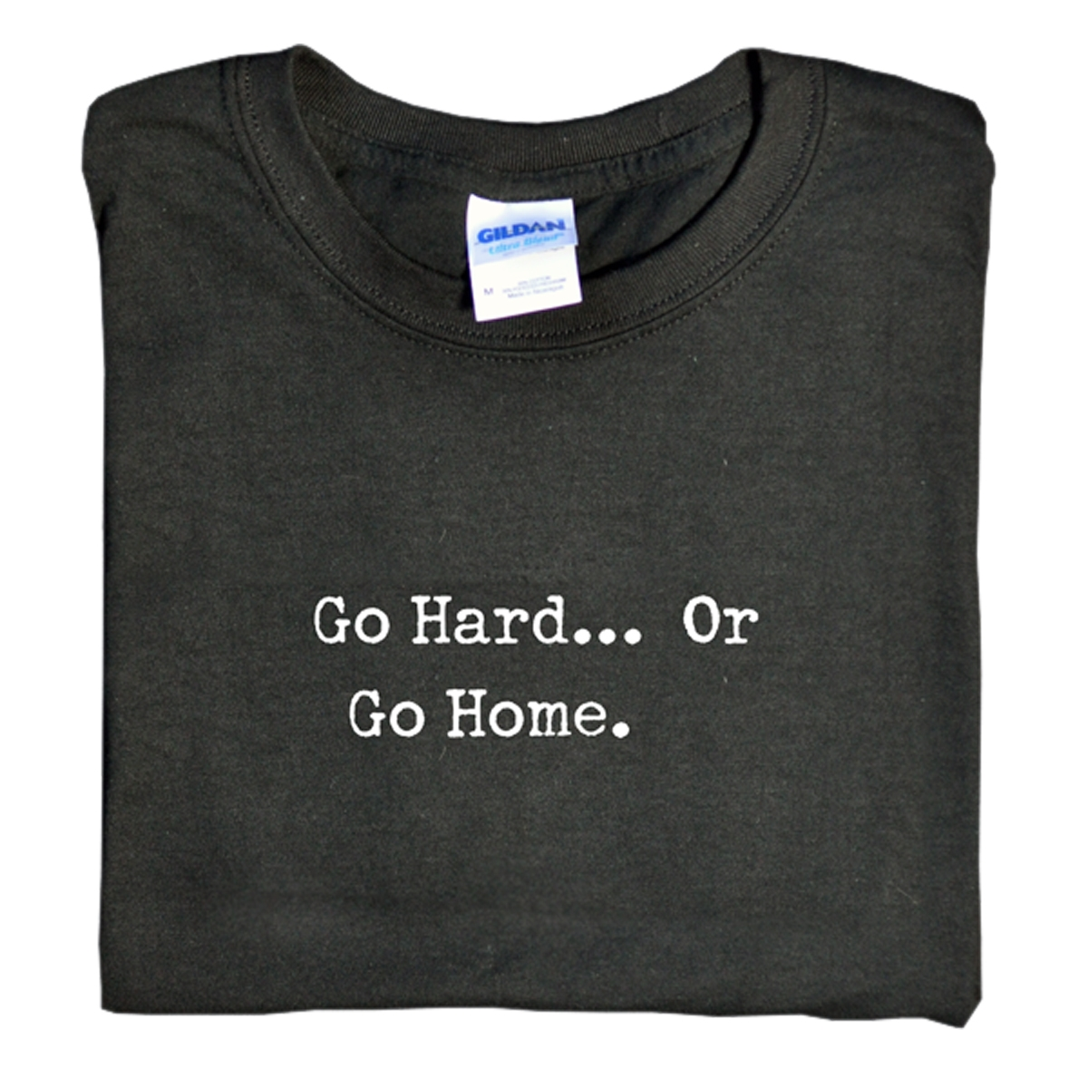 Black Go Hard Or Go Home T-Shirt Medium By Universal Nutrition