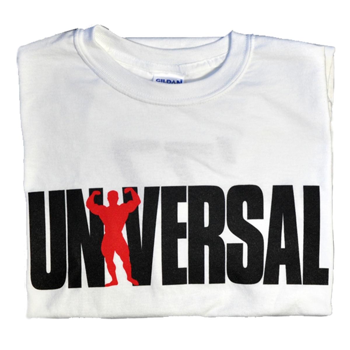 Universal Nutrition White Logo T-Shirt Medium