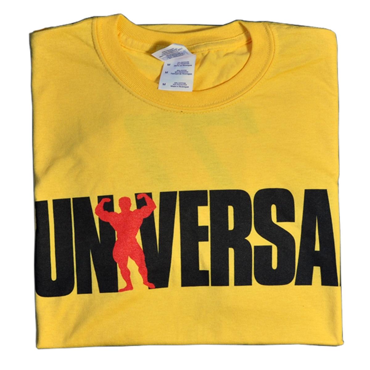 Universal Nutrition Yellow USA '77 T-Shirt Medium