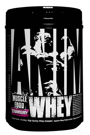 Animal Whey Protein, By Universal Nutrition, Strawberry, 1lb
