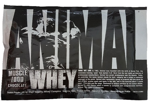 Animal Whey Protein By Universal Nutrition, Banana, Sample Packet