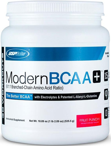 Modern BCAA Plus By USP Labs, Fruit Punch 30 Servings