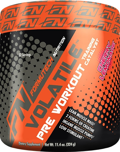Volatile Pre Workout By Formutech Nutrition, Cherry Lemonade, 324 Grams