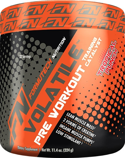 Volatile Pre Workout By Formutech Nutrition, Tropical Punch, 324 Grams