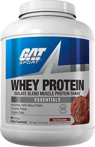 GAT Whey Protein, Essentials Series, Chocolate, 5lb