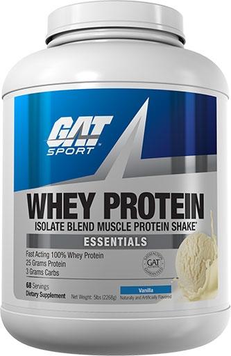 GAT Whey Protein, Essentials Series, Vanilla, 5lb