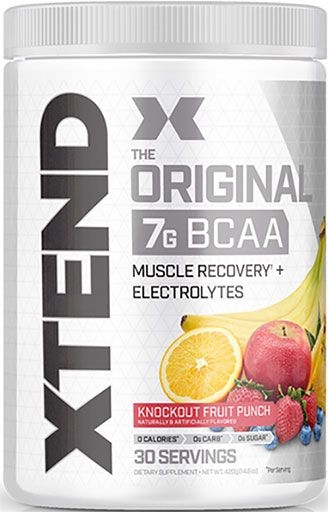 Xtend BCAA By Scivation, Knockout Fruit Punch 30 Servings