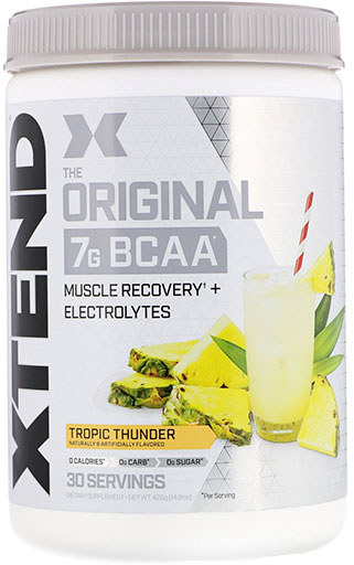 Xtend BCAA By Scivation, Tropic Thunder (Pineapple) 30 Servings