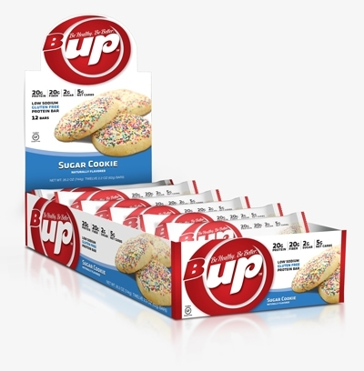 B-UP Protein Bars, By YUP Brands, Sugar Cookie, 12/Box