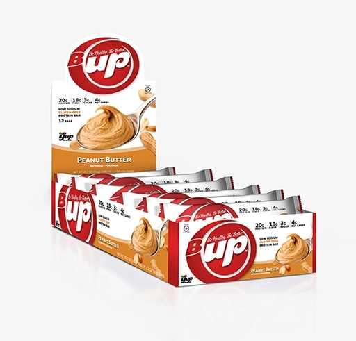 B-UP Protein Bars, By YUP Brands, Peanut Butter, 12/Box