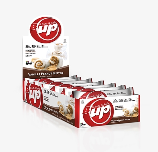 B-UP Protein Bars, By YUP Brands, Vanilla Peanut Butter, 12/Box